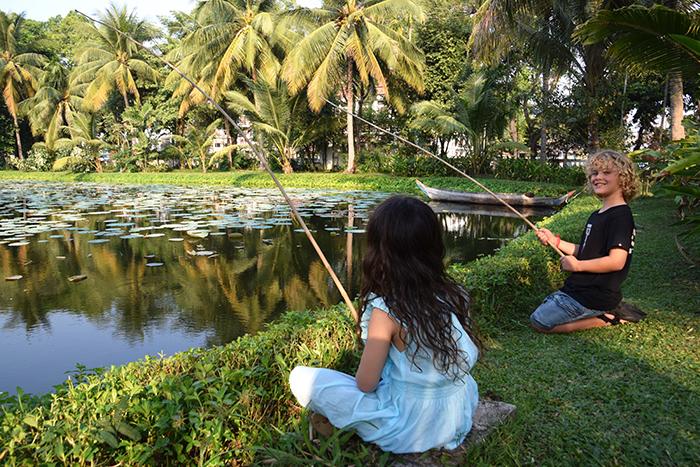 Sofitel Angkor Phokeethra Golf & Spa Resort with kids. Fishing activities