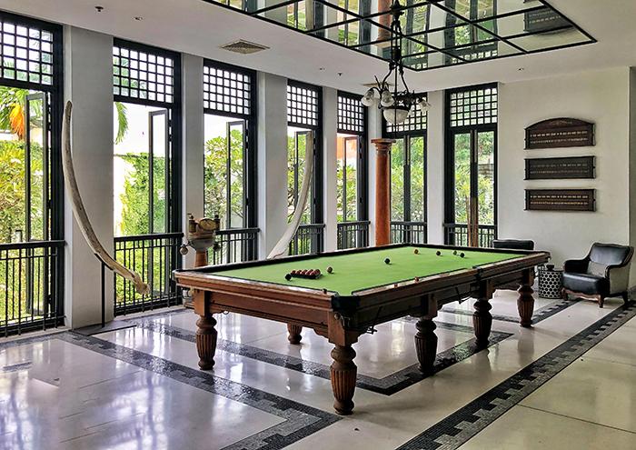 Billiards at The Siam Hotel Bangkok