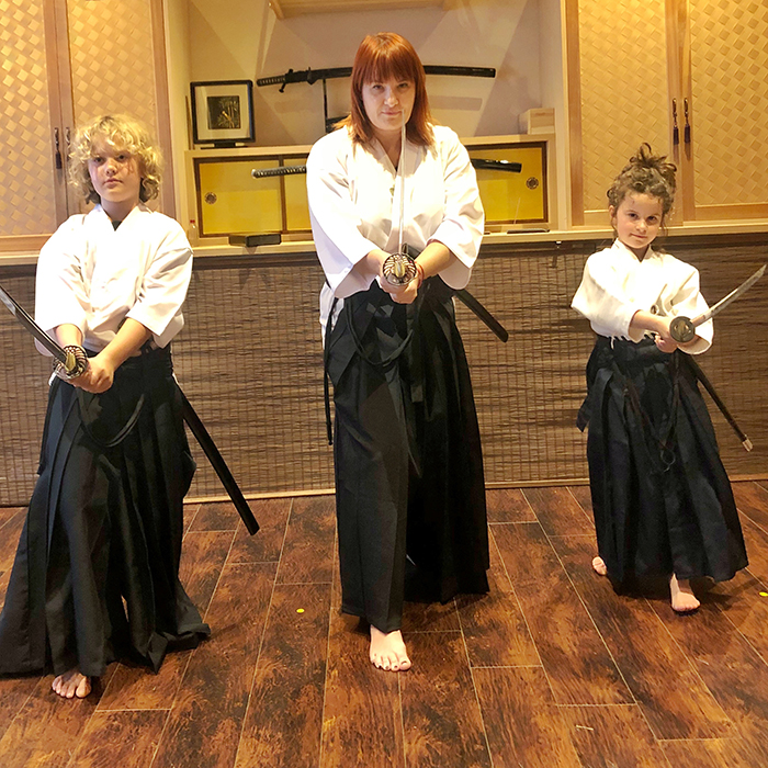 Things to do in Tokyo with Kids: The family that slays together stays together at Hisui Tokyo Battō with Inside Japan Tours
