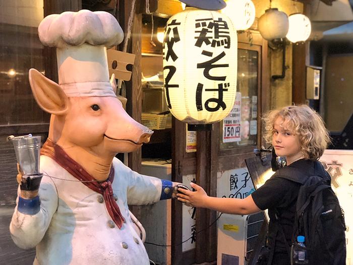Raffles has eaten his way around Tokyo several times