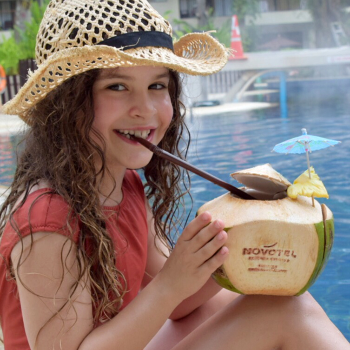 Fresh coconut at Novotel Surin Phuket Resort