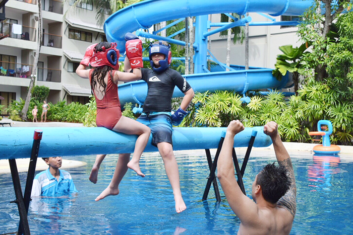 Over water boxing at Novotel Surin Phuket