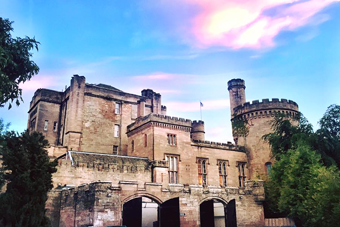Dalhousie Castle with kids