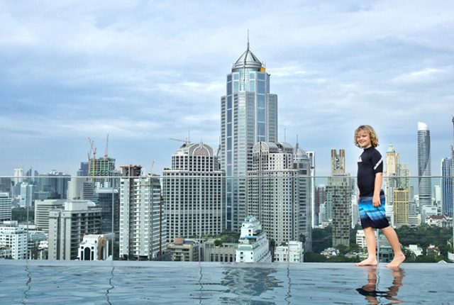 The stunning rooftop pool at Novotel Bangkok Sukhumvit 4