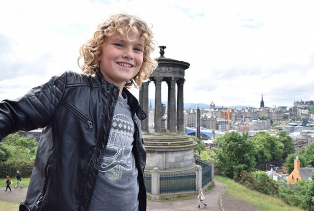 Edinburgh by kids Calton Hill