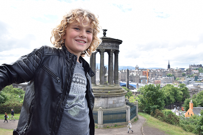 Edinburgh by kids Calton Hill