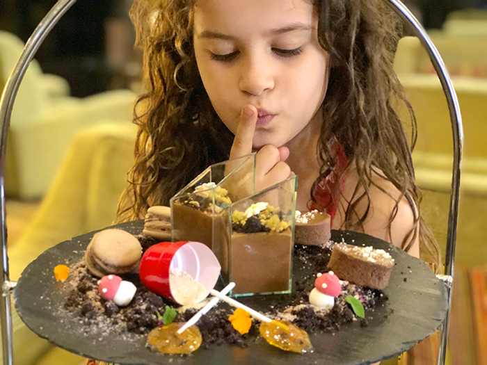 Little girl at Chocolate High Tea at Radisson Blu Plaza Hotel Sydney