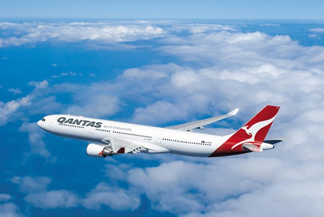 Qantas Airbus A330 flying with blue sky background © Clay Lacy/ Qantas