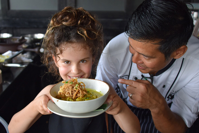 The SIam Cooking School with kids