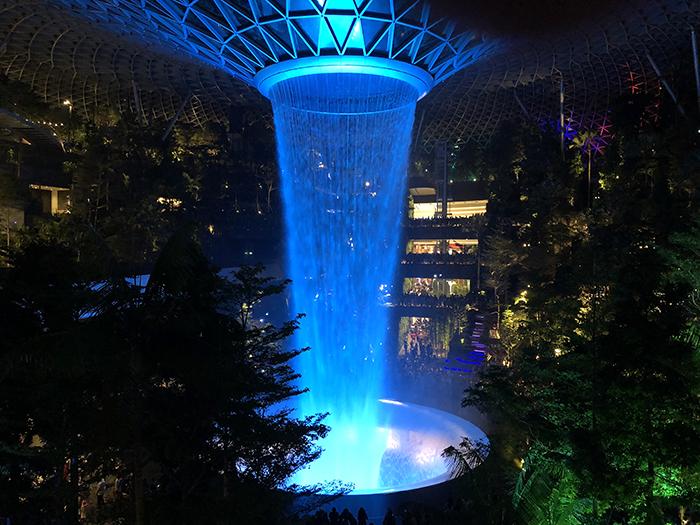 HSBC Rain Vortex at Jewel Changi
