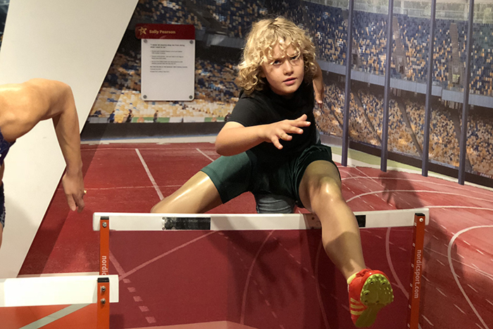 leaping into Madame Tussauds Sydney with kids