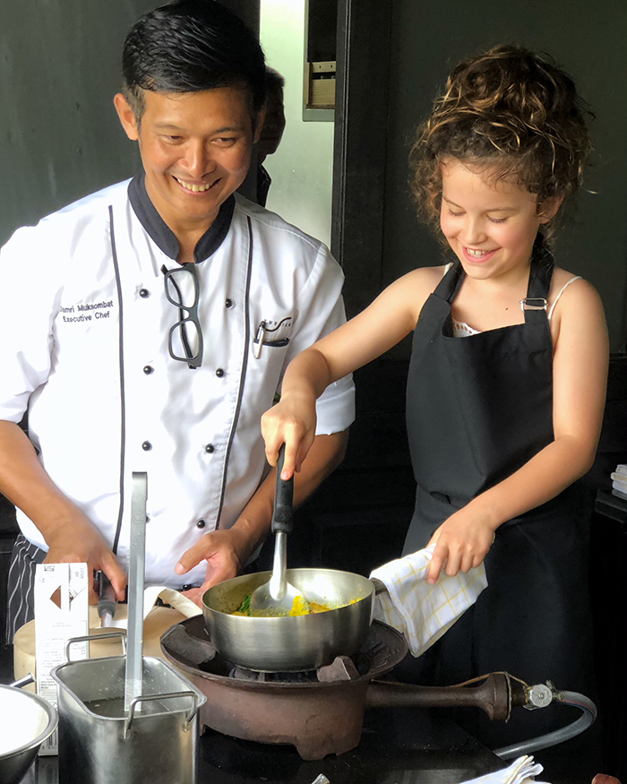 Thai Cooking with kids at The Siam Cooking School, Bangkok