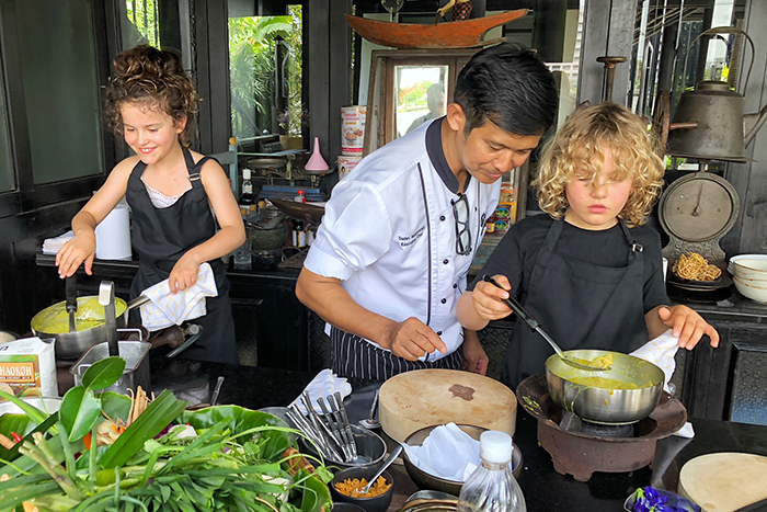 Thai Cookery with kids in Bangkok