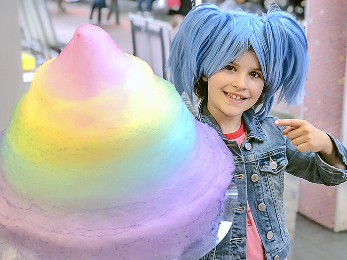 Rainbow fairy floss on Takeshita Street Harajuku
