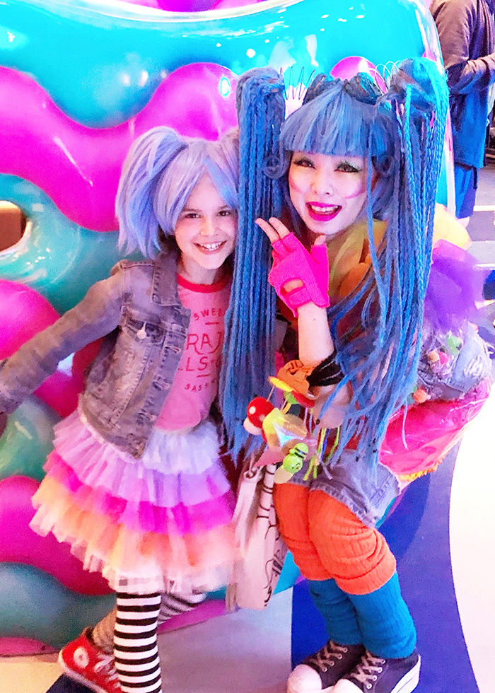 Kawaii Monster Cafe with kids