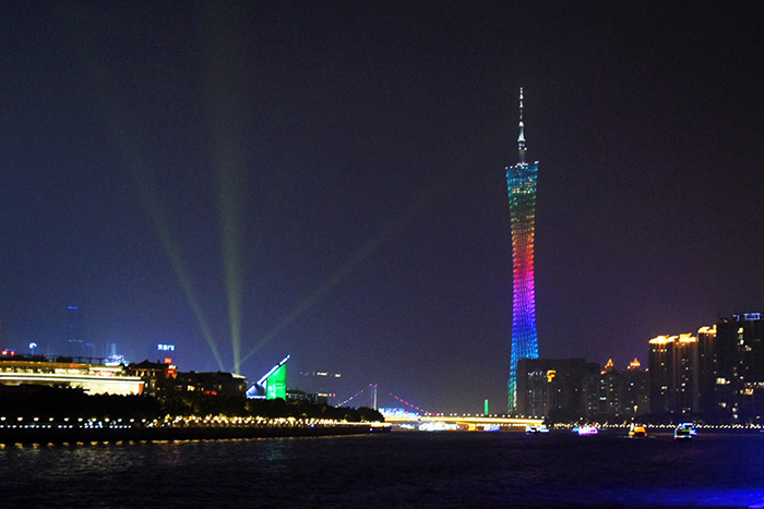 One of the world's tallest freestanding towers, Canton Tower in Guangzhou is stunning at night