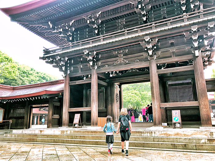 Things to in Tokyo with kids: Kita-mon gate at Meiji Jungu