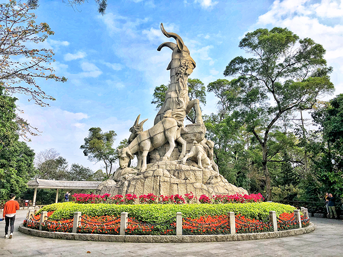 The Five Ram Statue in Yuexiu Park is the symbol of Guangzhou