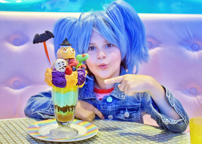 Crazy parfait at Kawaii Monster Cafe Harajuku