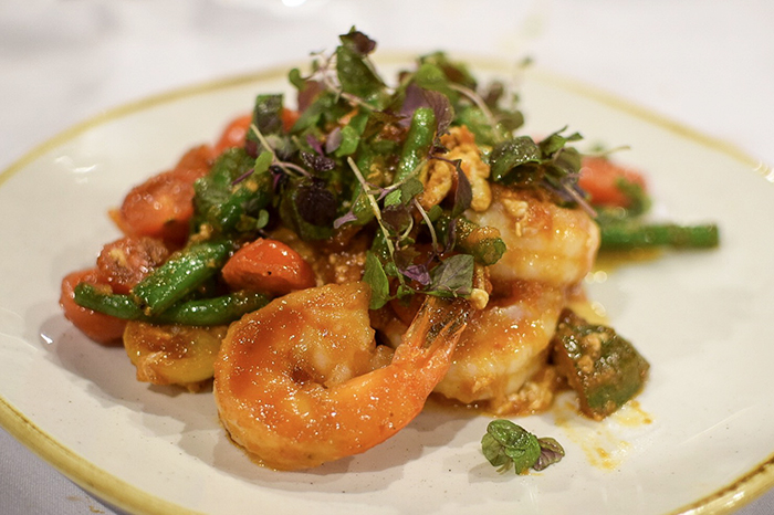 Singapore chilli prawns at Canton Kitchen