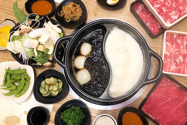 Japanese hot pot at Izu Village Sydney