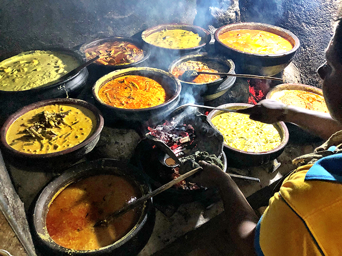 tending the curries at priyamali gedara