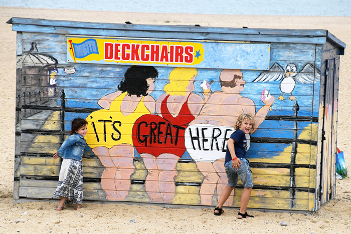 Painting on Yarmouth Beach