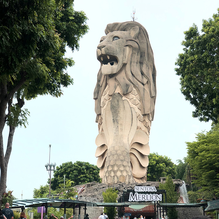 Merlion at Imbia Station Sentosa