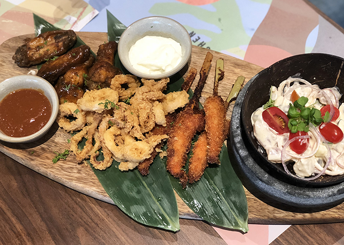 Sharing platter at Native Kitchen Village Hotel Sentosa