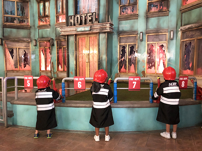 Little firefighters at Kidzania Sentosa Singapore