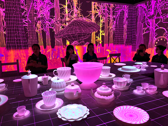 Mad Hatters Tea party at Wonderland Exhibition - ArtScience Museum Singapore