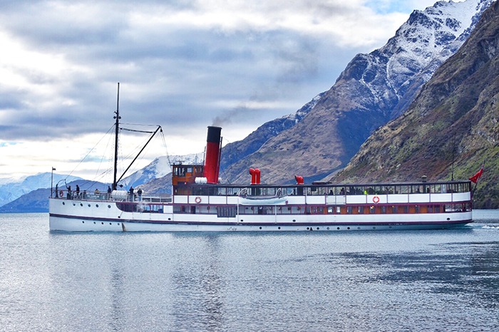 The historic TSS Earnslaw in Queenstown
