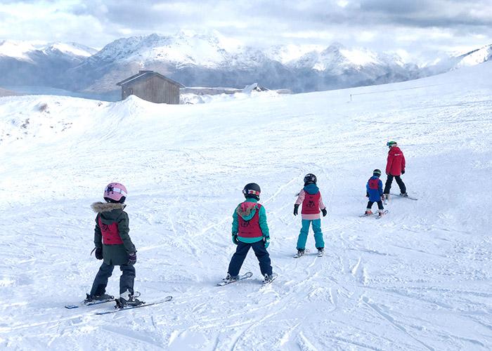 Coronet Peak Queenstown kids ski lessons