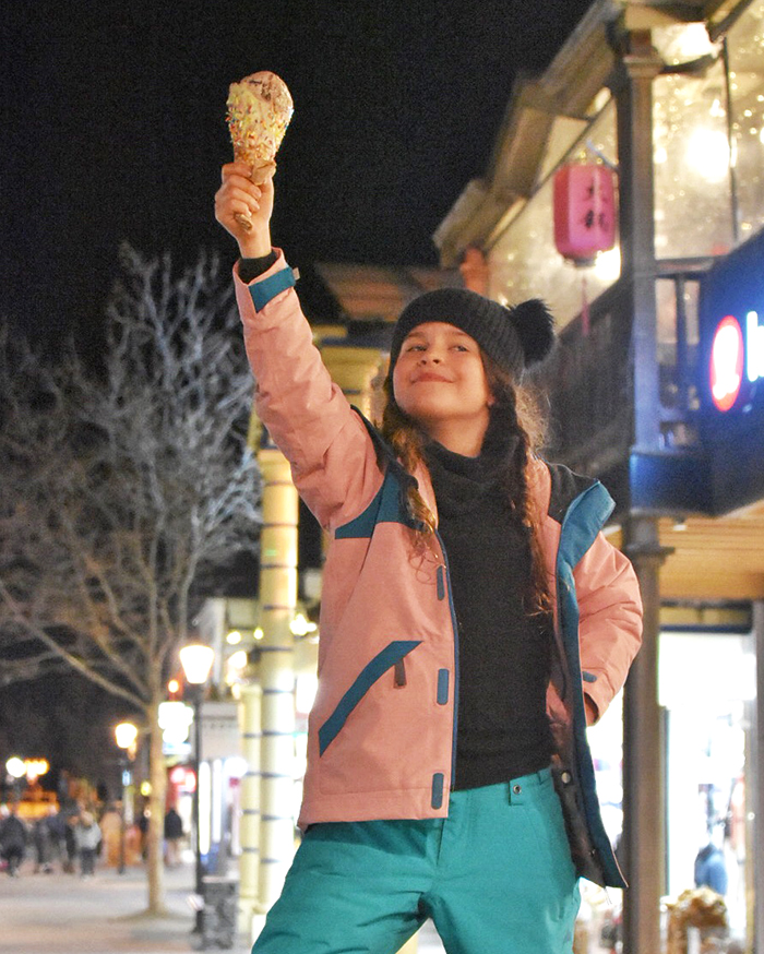 Eyes on the prize: An icecream from Patagonia Queenstown