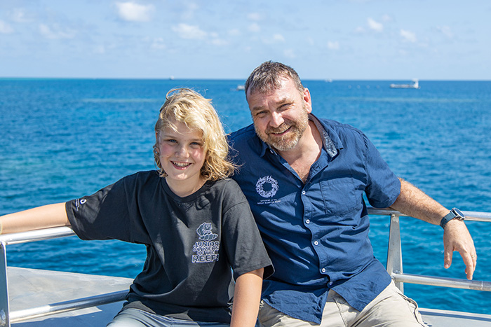 Andy Ridley with Nickelodeon Junior CItizens of the Reef ambassador Raff