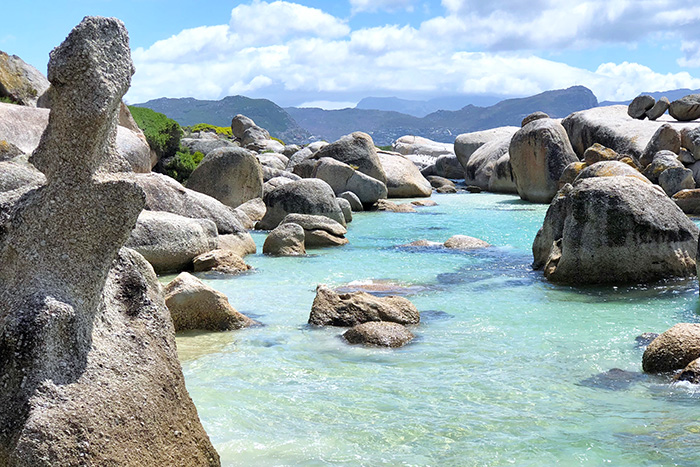 The gorgeous water at Boulders Beach