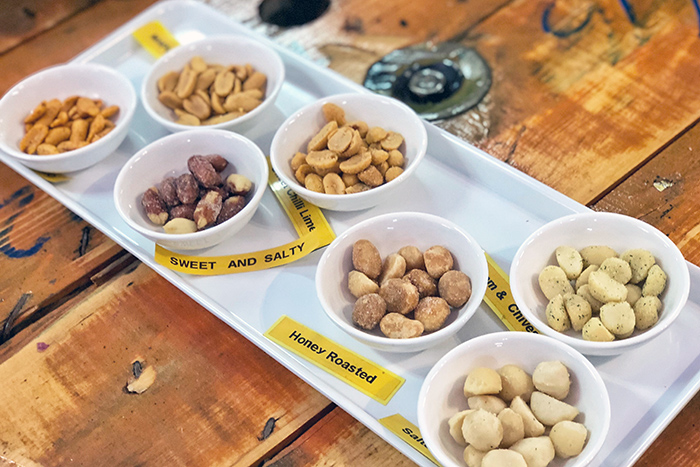 Nut tasting at The Humpy Atherton Tablelands