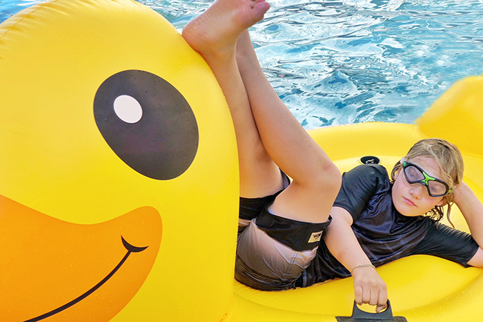Rubber duck at the Riley