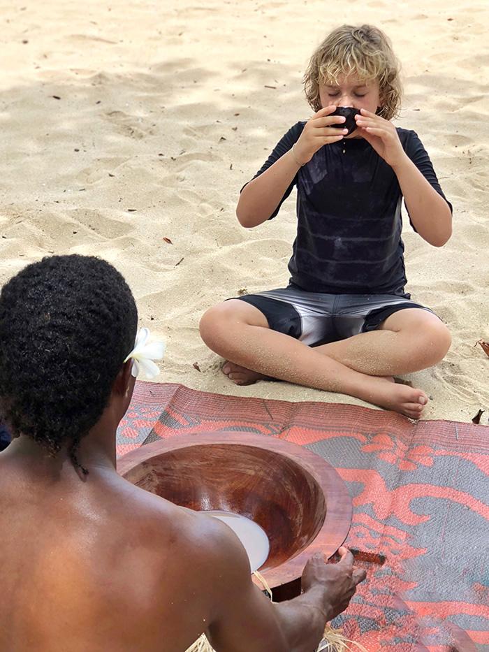 Kava Ceremony Tivua Island FijiK