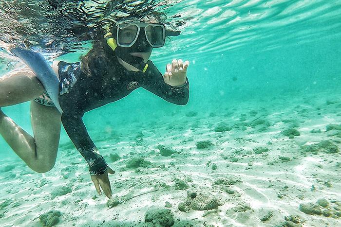 Snorkelling at Tivua Island