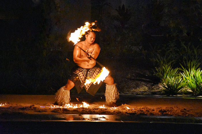 Fire dancers at Pullman Nadi