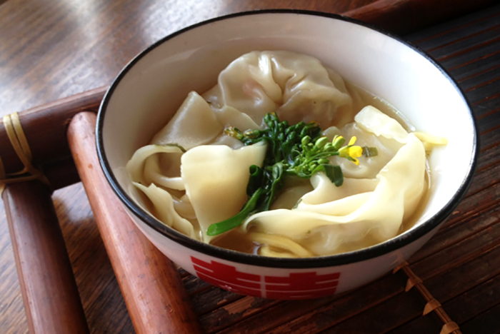 easy recipe for Chicken and Lemon Myrtle Won Ton Noodle Soup