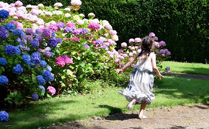 Little girl at Somerleyton Hall