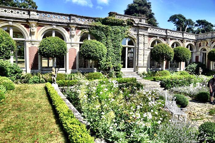 White garden at Somerleyton Hall and Gardens Suffolk