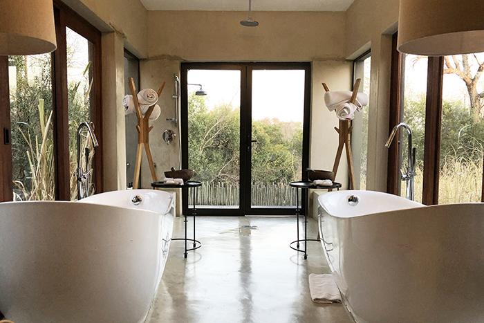 The amazing luxury villa bathroom at Sabi Sabi Bush Lodge