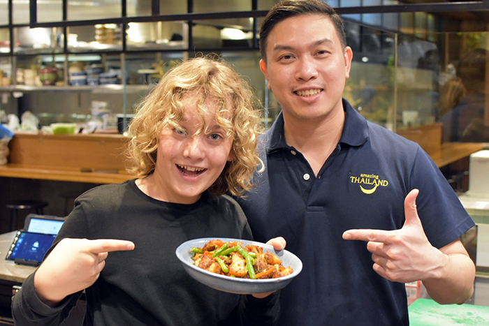 Raff and Chef Oat at Chat Thai Gateway