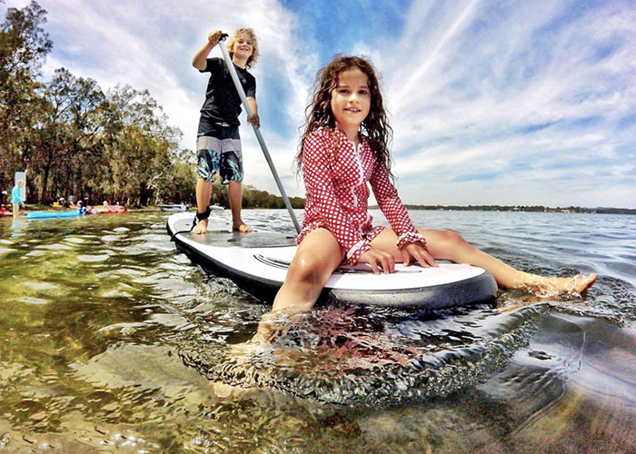 Paddle Boarding at Summerland Point Lake Macquarie