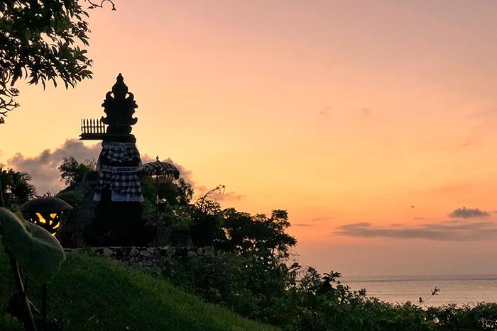 Balinese sunset at Four Seasons Bali
