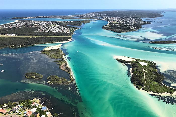 Lake Macquarie aerial