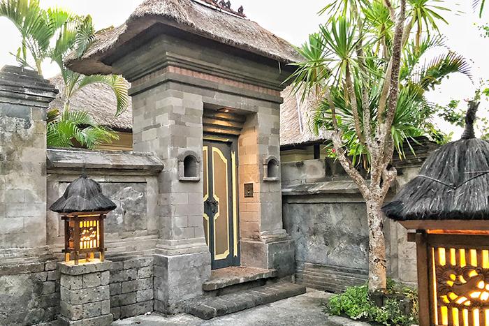Villa entrance at Four SeasonsResortBaliJimbaranBay